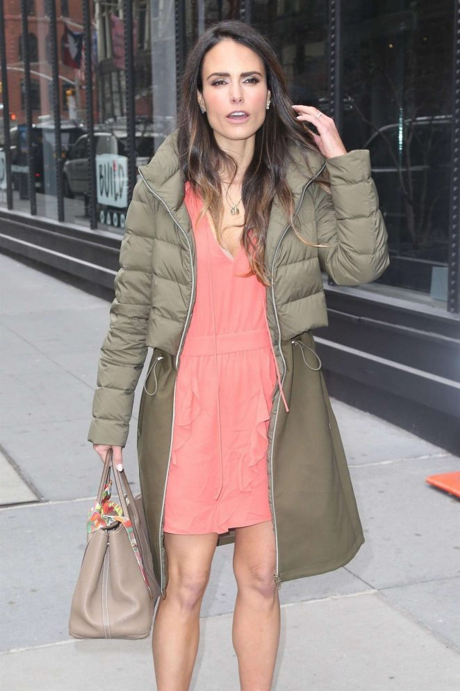 Jordana Brewster - Arrives at AOL Build Series in NYC