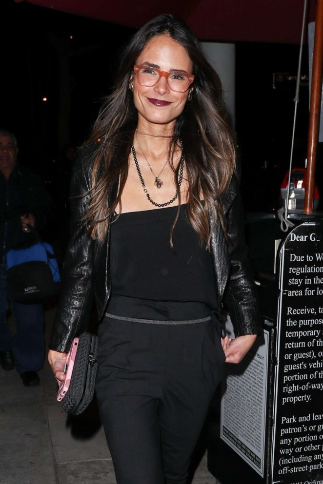 Jordana Brewster at Craig's in West Hollywood