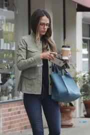 Jordana Brewster - Grabbing a coffee in Brentwood