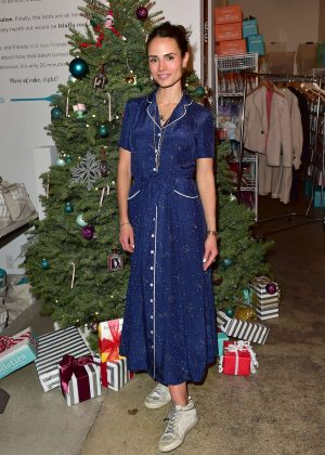 Jordana Brewster - Holiday Cookie Party benefiting Alliance of Moms & Raising Foodie in LA