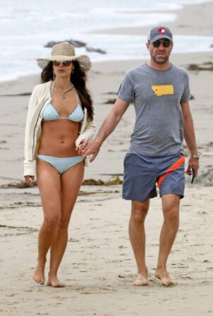 Jordana Brewster - In a bikini on the beach in Santa Monica