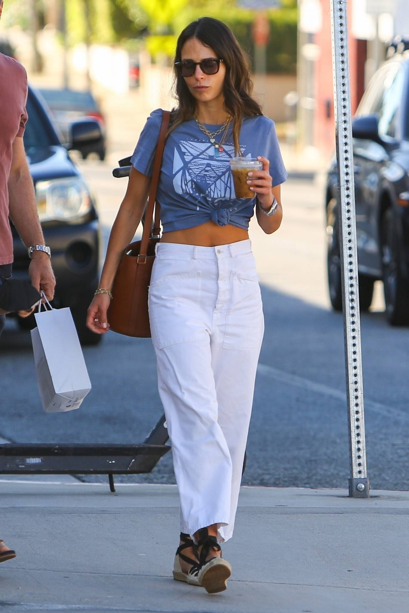 Jordana Brewster 2021 : Jordana Brewster – In a midriff-baring top out in Brentwood-06