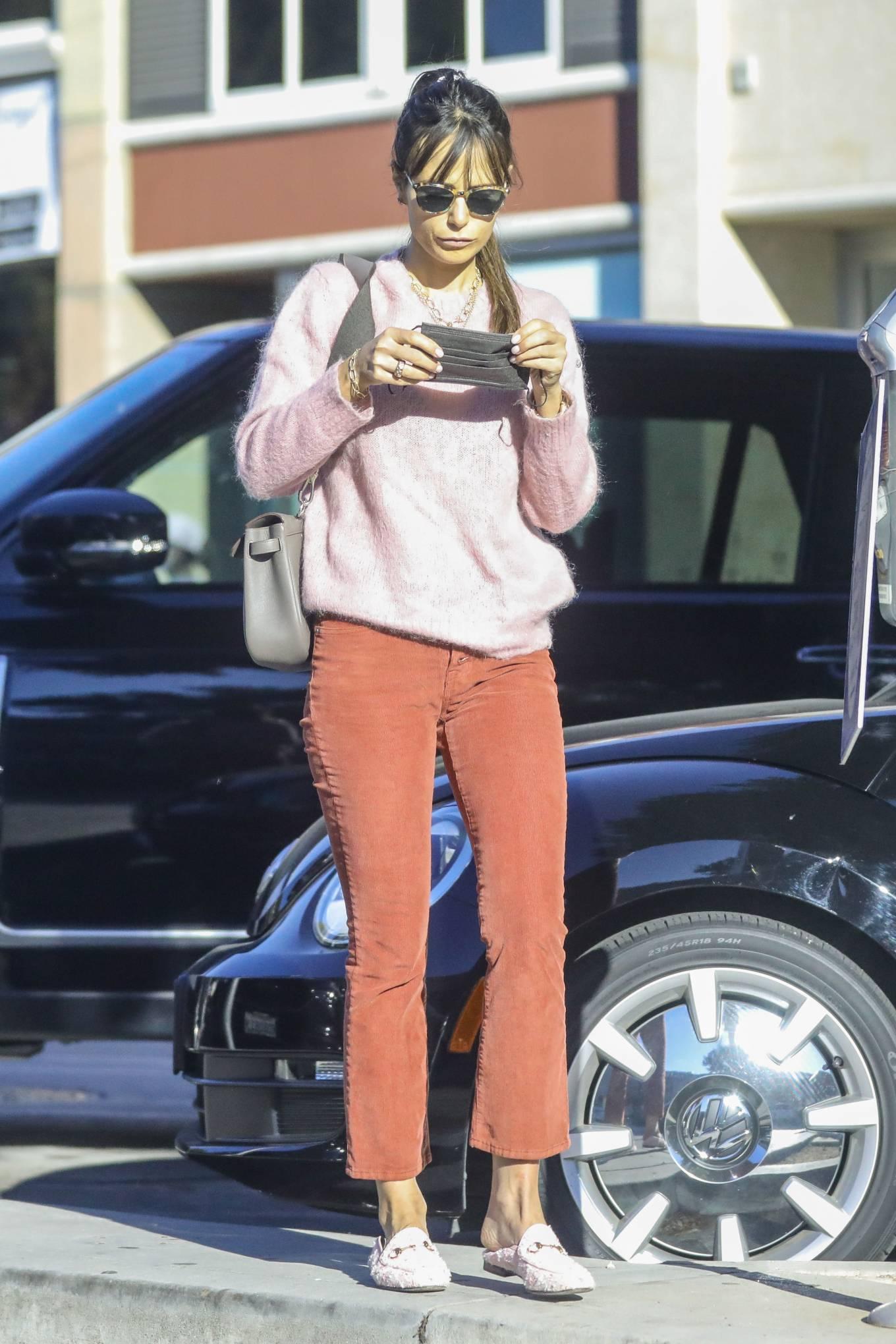 Jordana Brewster 2020 : Jordana Brewster – In a pink sweater out in L.A.-07