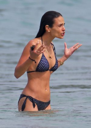 Jordana Brewster in a polka dot bikini in Hawaii