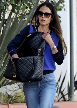 Jordana Brewster in Jeans Out in LA