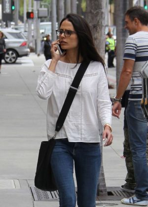 Jordana Brewster in Jeans Out Shopping in Los Angeles