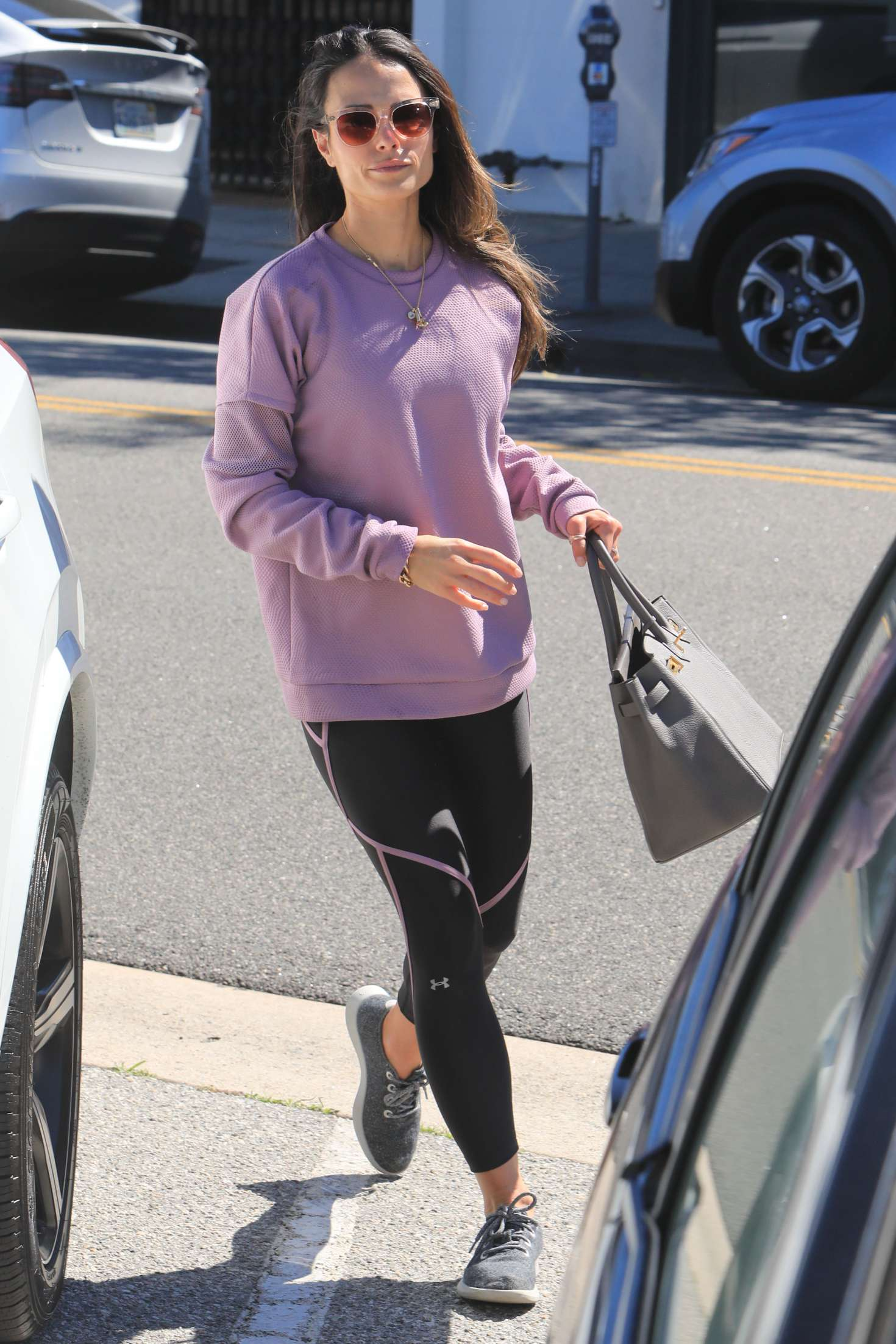 Jordana Brewster in Leggings - Out and about in Beverly Hills