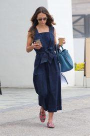 Jordana Brewster in Long Dress - Shopping in LA