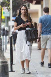 Jordana Brewster in Long Skirt - Out in LA