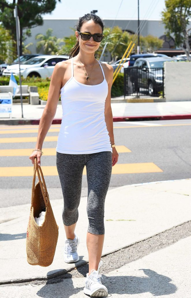 Jordana Brewster in Spandex out in LA