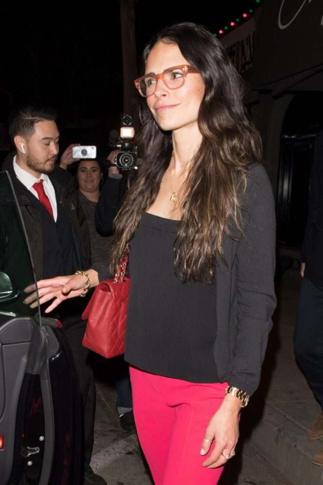 Jordana Brewster - Leaves Craig's Restaurant in West Hollywood