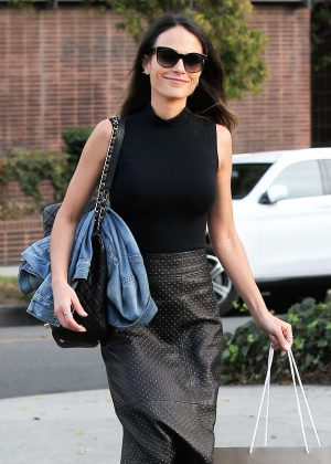 Jordana Brewster out and about in Beverly Hills