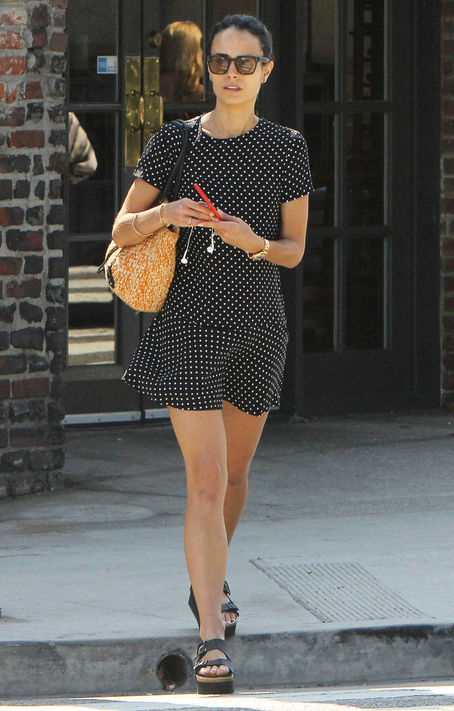 Jordana Brewster in Mini Dress Out in Brentwood