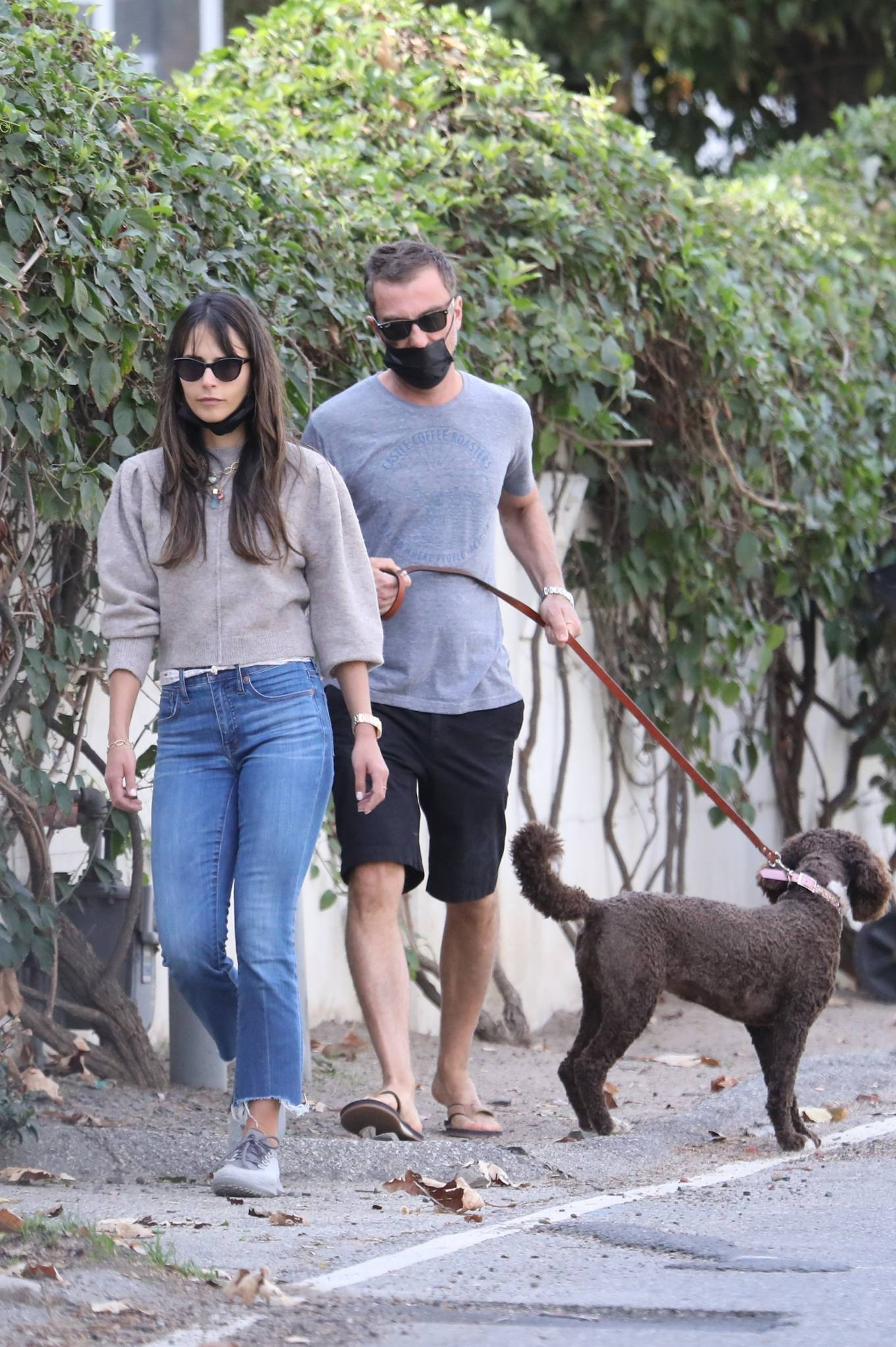 Jordana Brewster - Out for a walk in Brentwood