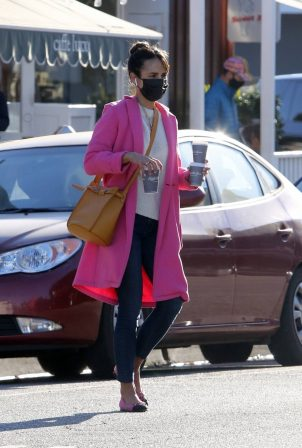 Jordana Brewster - Out for coffee in Brentwood