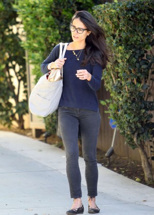 Jordana Brewster in Jeans Out in LA