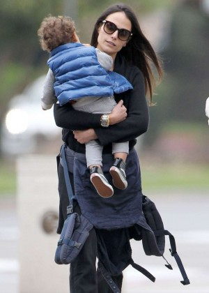 Jordana Brewster with her family Out in Santa Monica