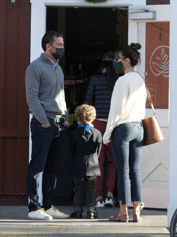 Jordana Brewster -Out with her boyfriend and son in Los Angeles