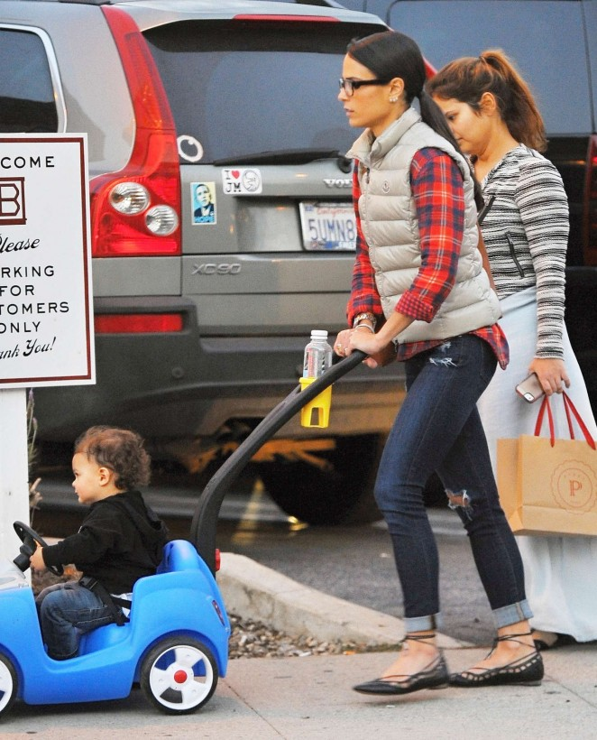 Jordana Brewster with her son Julian Out in LA