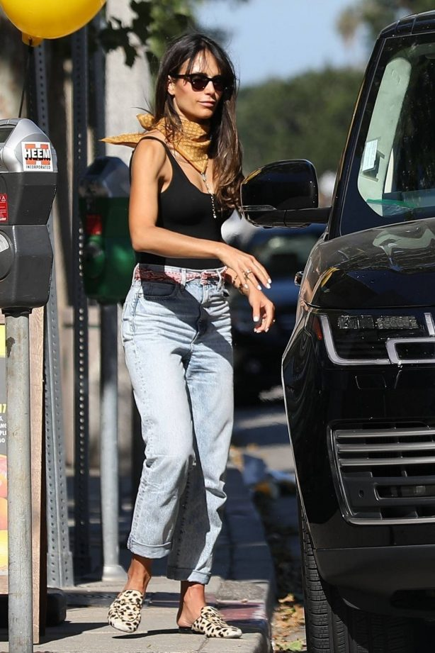 Jordana Brewster - Pick up coffee at Luxe Cafe in Brentwood