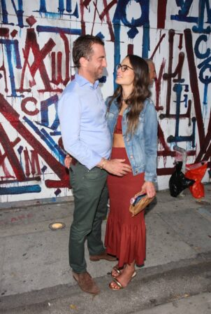 Jordana Brewster - Posing with boyfriend Mason Morfit at Craig's in West Hollywood