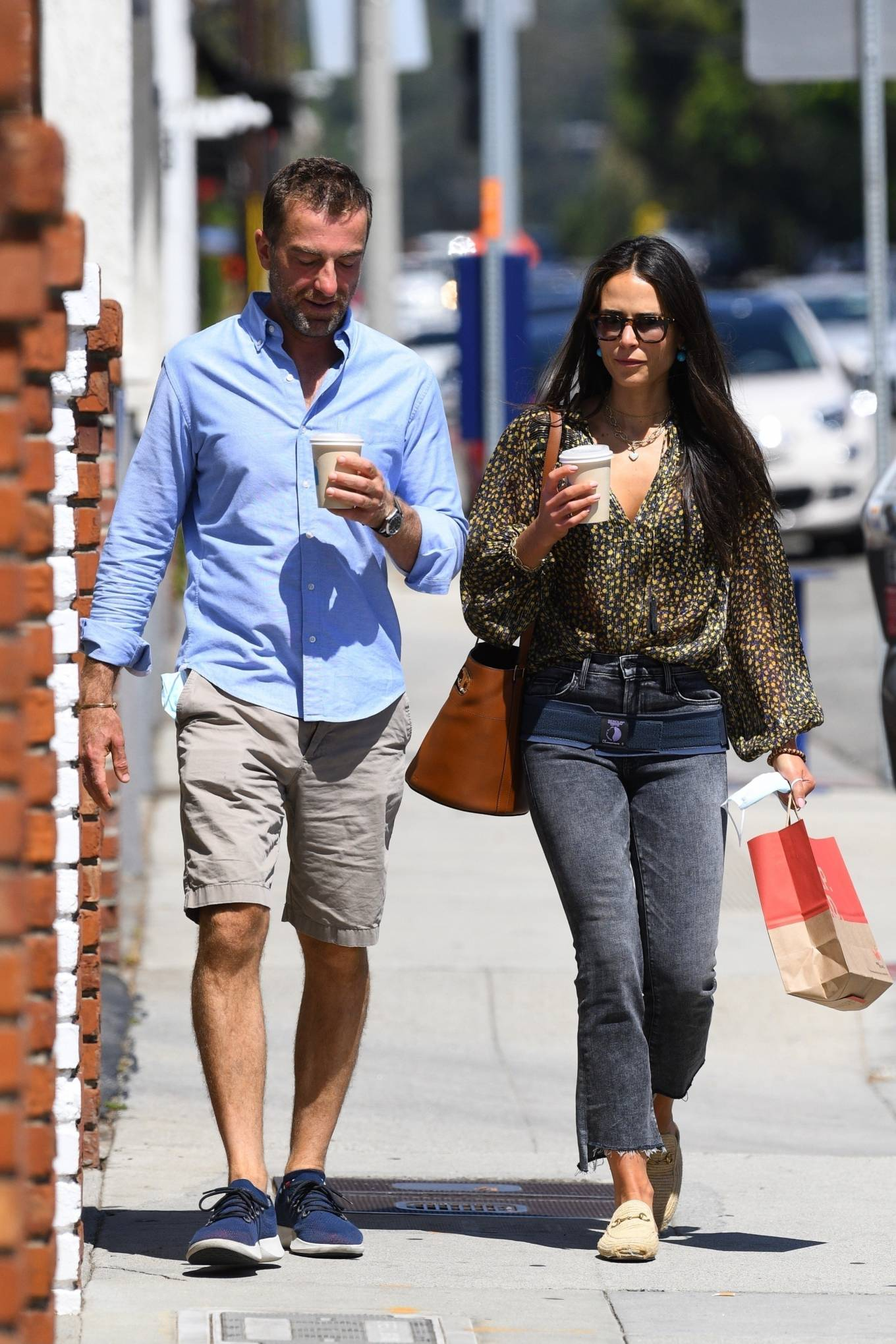 Jordana Brewster - Seen at the Brentwood Country Mart