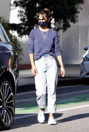 Jordana Brewster - Seen in morning in Santa Monica