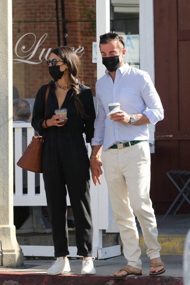 Jordana Brewster - Seen with her boyfriend Mason Morfit at Cafe Luxe in Brentwood