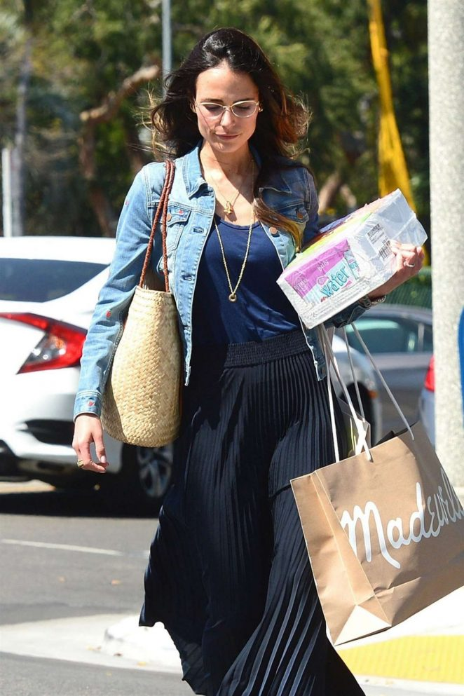 Jordana Brewster - Shopping Candids In Beverly Hills