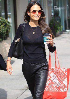 Jordana Brewster - Shopping in Beverly Hills