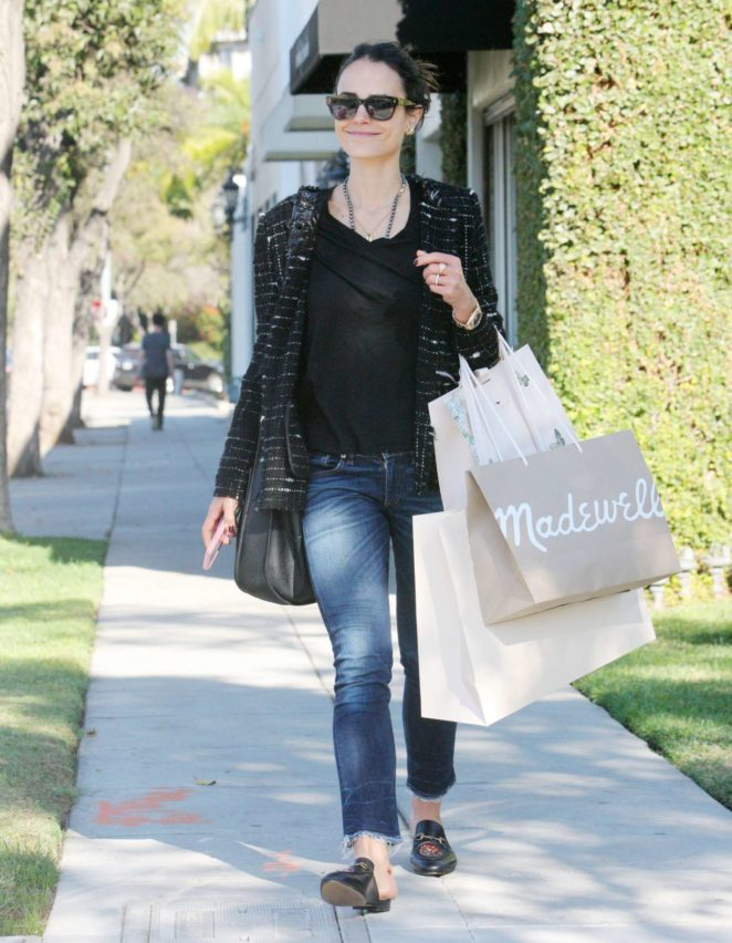 Jordana Brewster - Shopping in Beverly Hills
