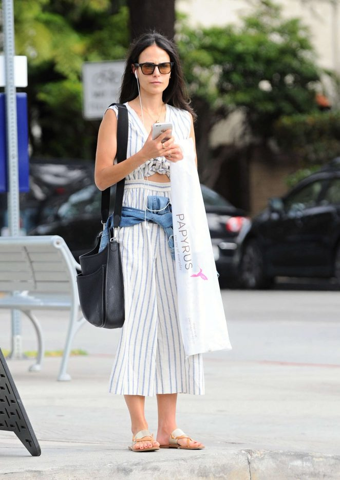 Jordana Brewster Shopping in Santa Monica -06