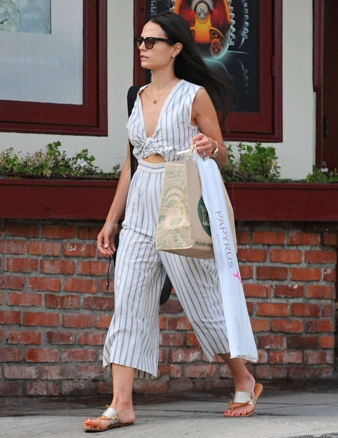 Jordana Brewster Shopping in Santa Monica -10