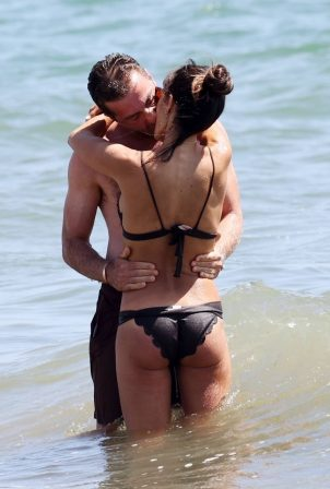 Jordana Brewster - Wearing bikini at the beach in Santa Monica