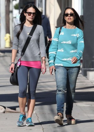 Jordana Brewster with a friend out in West Hollywood