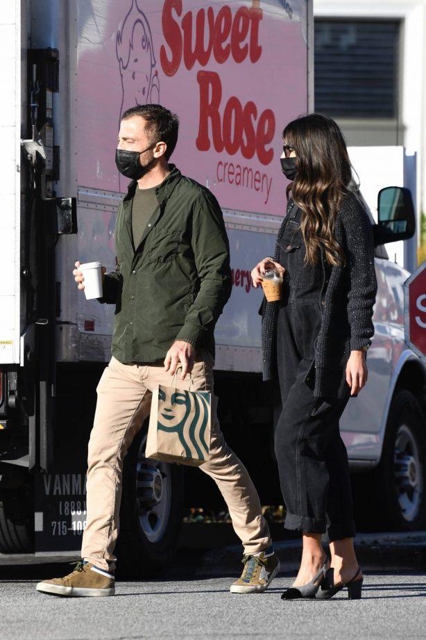 Jordana Brewster - With boyfriend Mason Morfit seen at a local cafe shop in Brentwood
