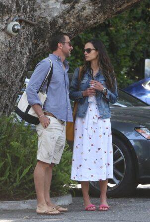 Jordana Brewster - With boyfriend Mason Morfit spend the day at the Bel Air hotel