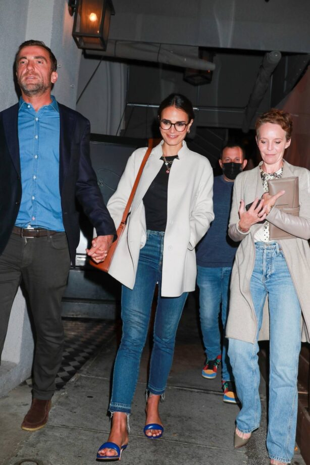Jordana Brewster - With friends seen leaving Craig's restaurant in West Hollywood