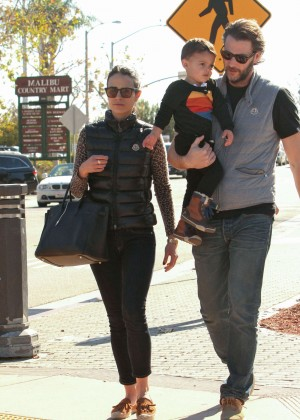 Jordana Brewster with her family out in LA