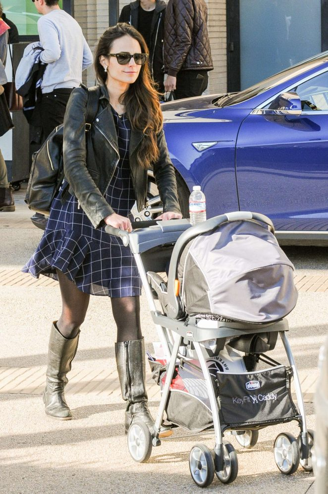 Jordana Brewster with her son Andrew in Los Angeles