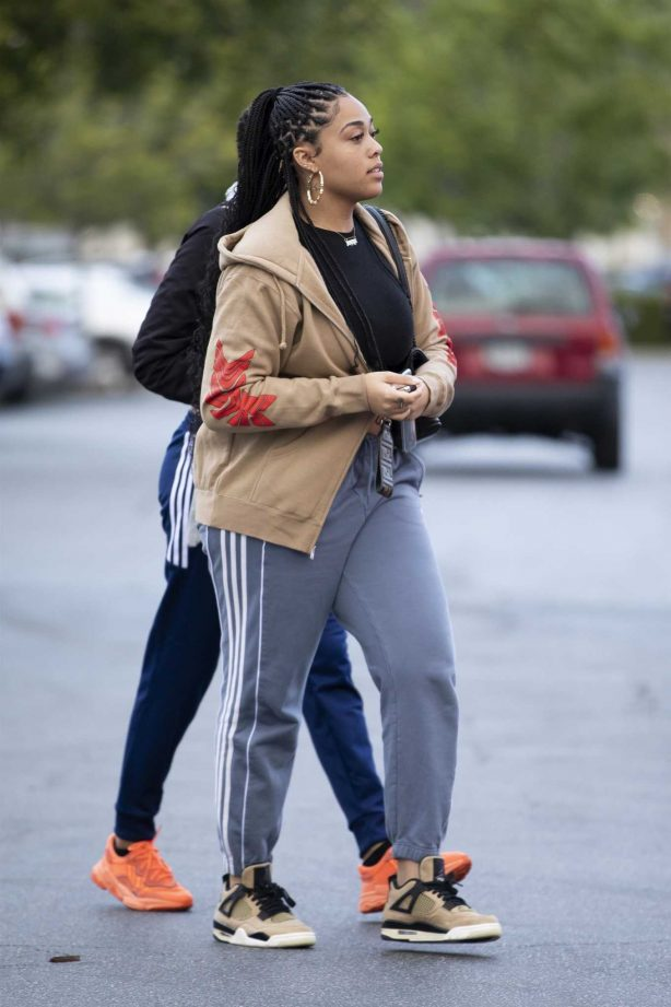 Jordyn Woods - Arrives at the Feature Store in Calabasas