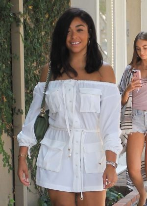 Jordyn Woods - Heads to an event in West Hollywood