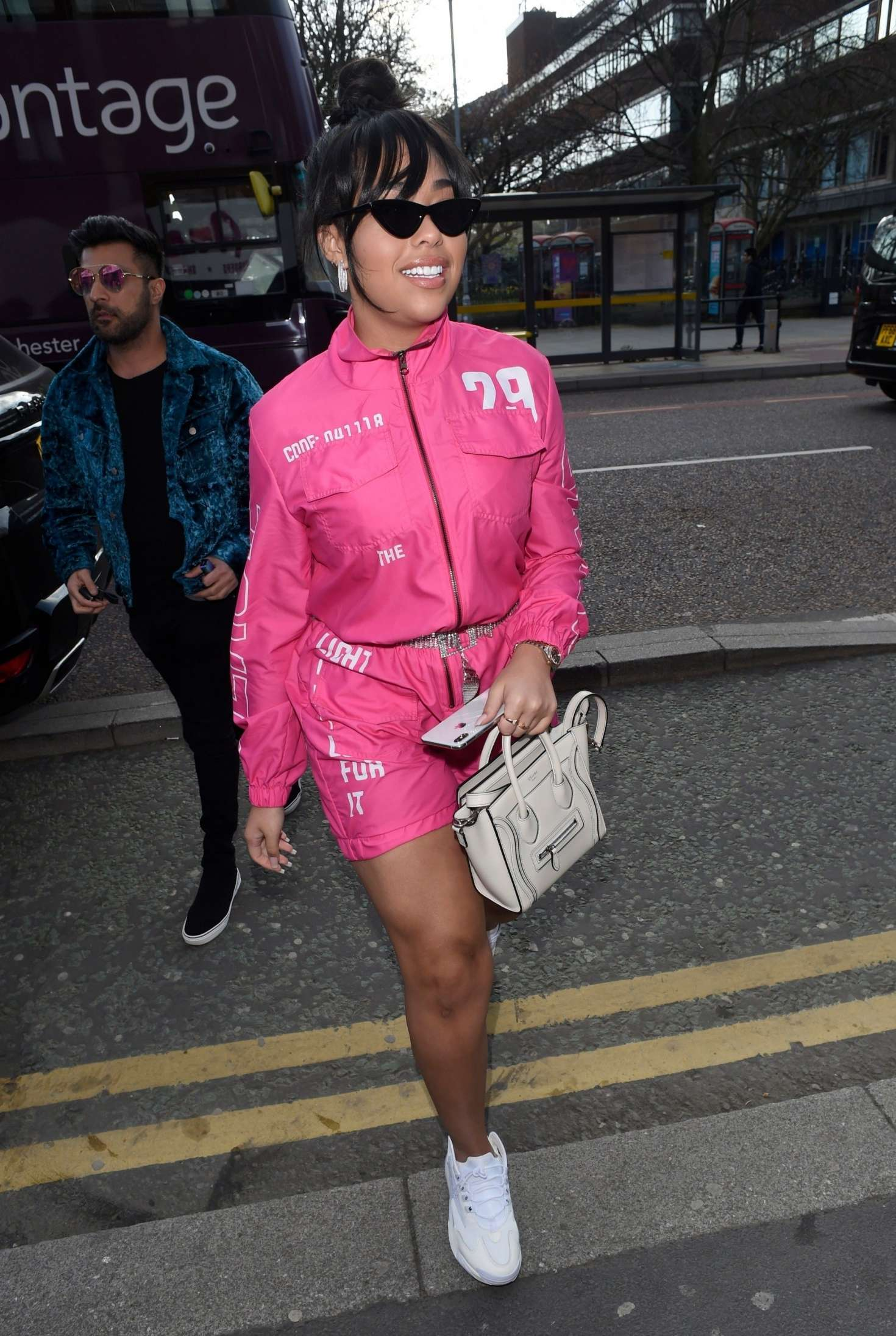 Jordyn Woods in Pink at Archies in Manchester