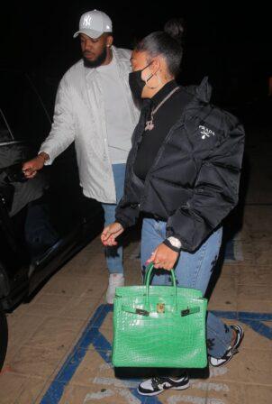 Jordyn Woods - Steps out for a dinner in Malibu