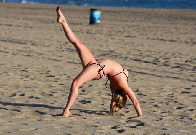 Jorgie Porter - Bikini candids in Malibu