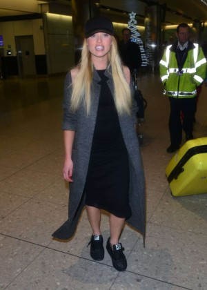 Jorgie Porter - Heathrow Airport in London