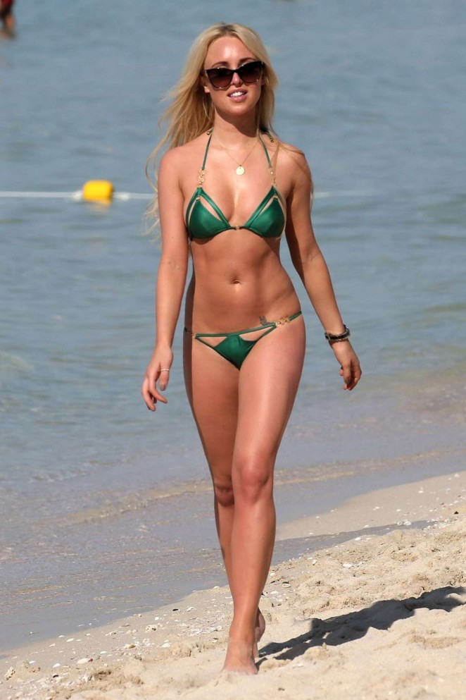 Jorgie Porter in Green Bikini in Dubai