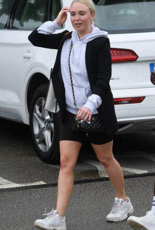 Jorgie Porter - Leaving a gym in Manchester