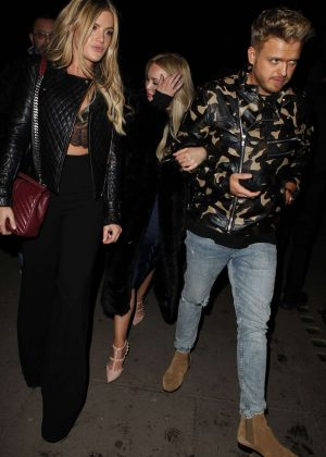 Jorgie Porter - Leaving Tape nightclub in London