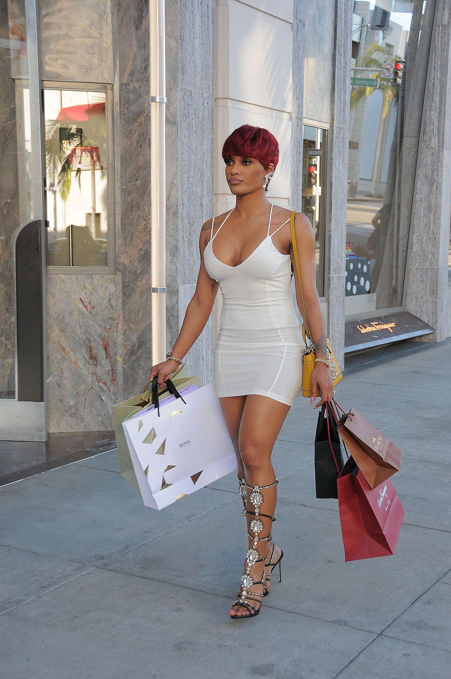 Joseline Hernandez in Mini Dress out in Los Angeles